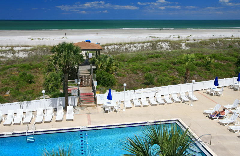 Beach view at Holiday Isle Oceanfront Resort.