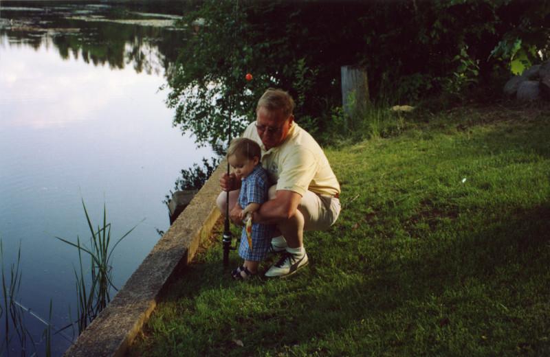 Fishing at Lakewoods Resort.