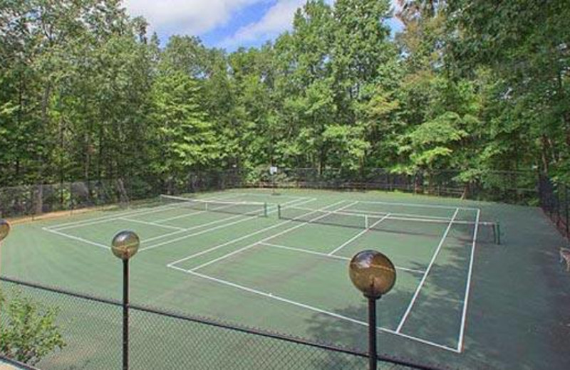 Tennis court at Cabins For You.