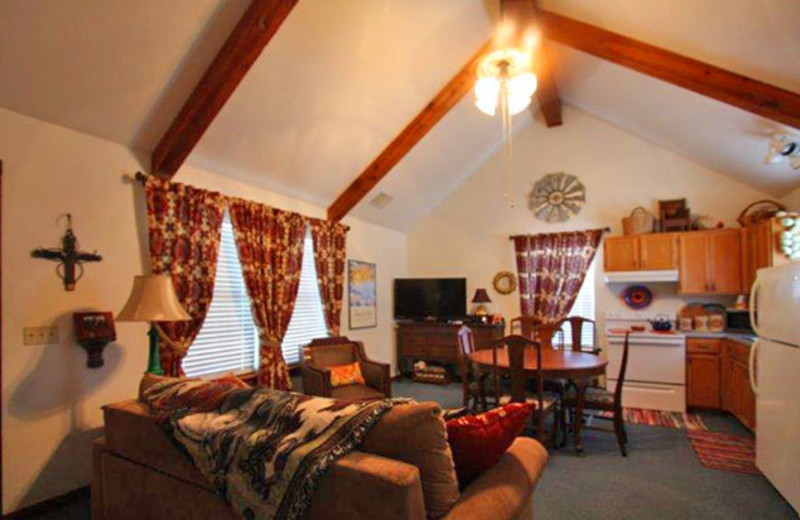 Living area at Cottage At Twin Oaks.