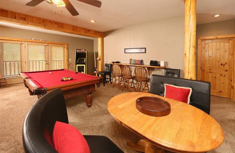 Rumpus room at Eden Crest Vacation Rentals, Inc. - Black Bear Hideaway.