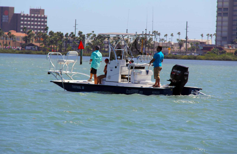 Fishing at Padre Island Rentals.