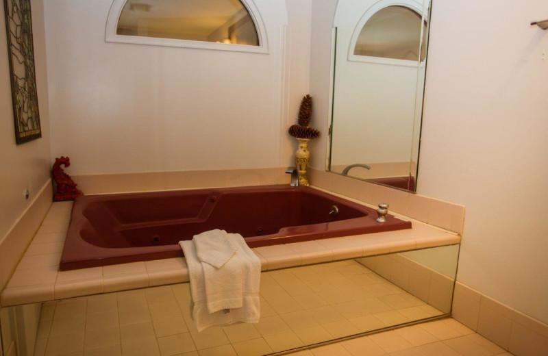 Guest hot tub at Big Moose Inn.
