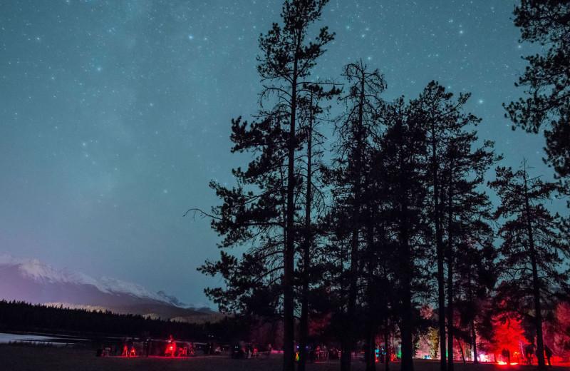 Stars at Mount Robson Inn.