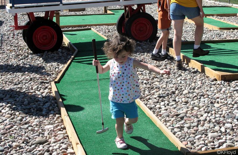 Mini golf at Colorado Springs KOA.