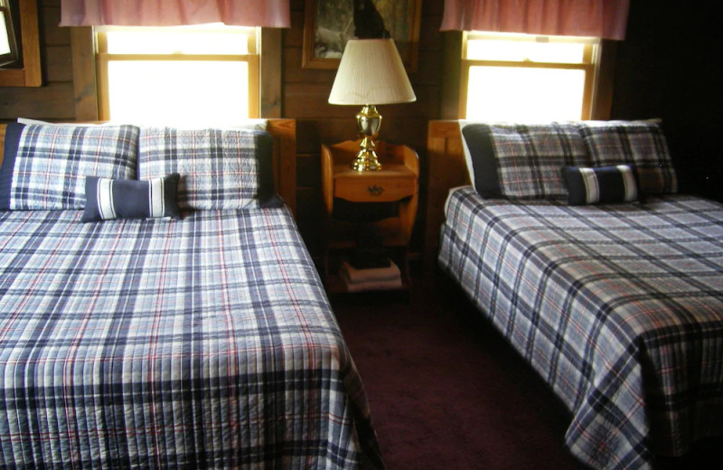 Guest room at Unity College Sky Lodge.