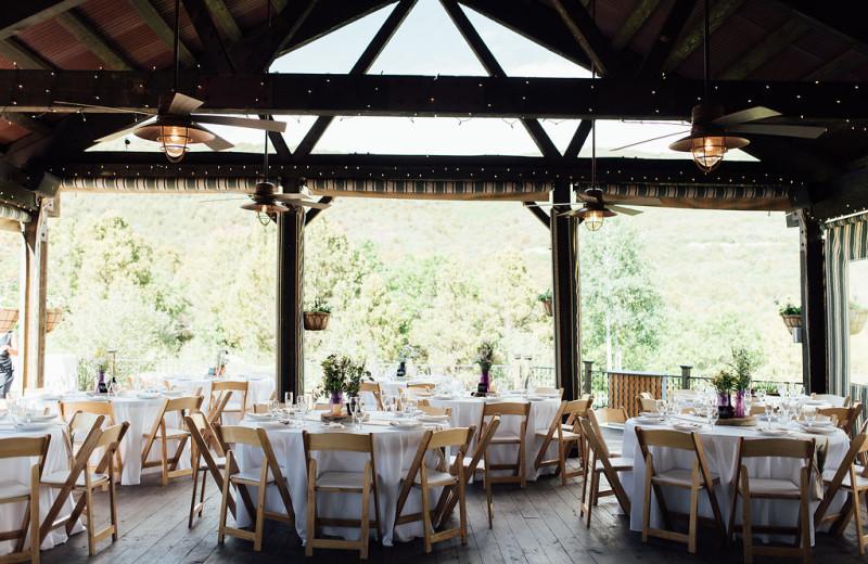 Wedding reception at Whispering Oaks Ranch.