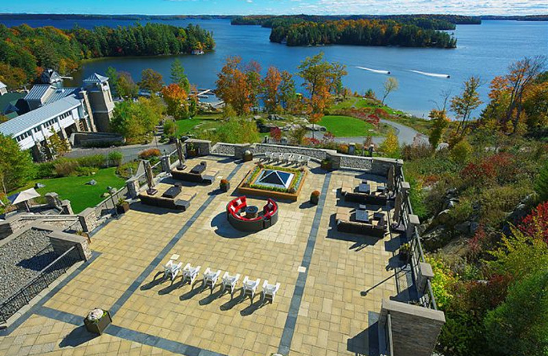 Patio at The Rosseau, A JW Marriott Resort & Spa.