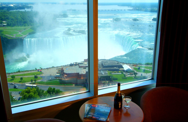 View from The Oakes Hotel Overlooking the Falls.