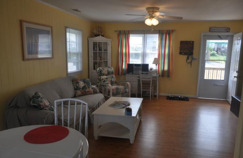 Rental living room at Island Real Estate. Inc.