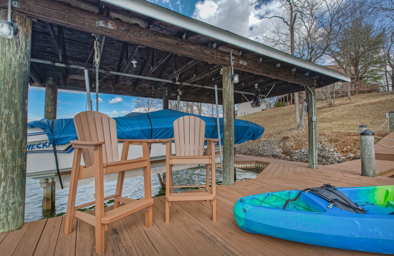 Rental dock at Premier Vacation Rentals @ Smith Mountain Lake.