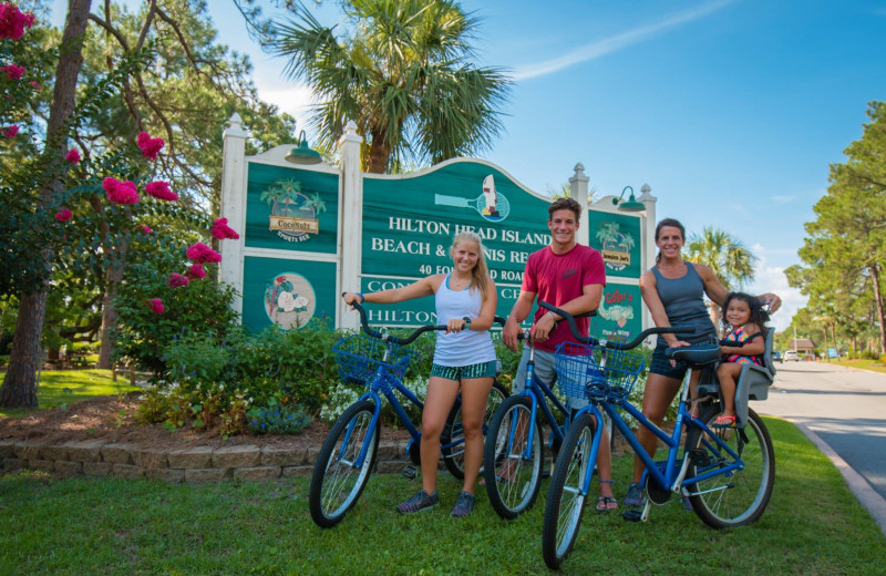 Biking at Hilton Head Island Beach