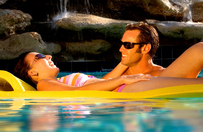 Couple in pool at The Inn at Key West.