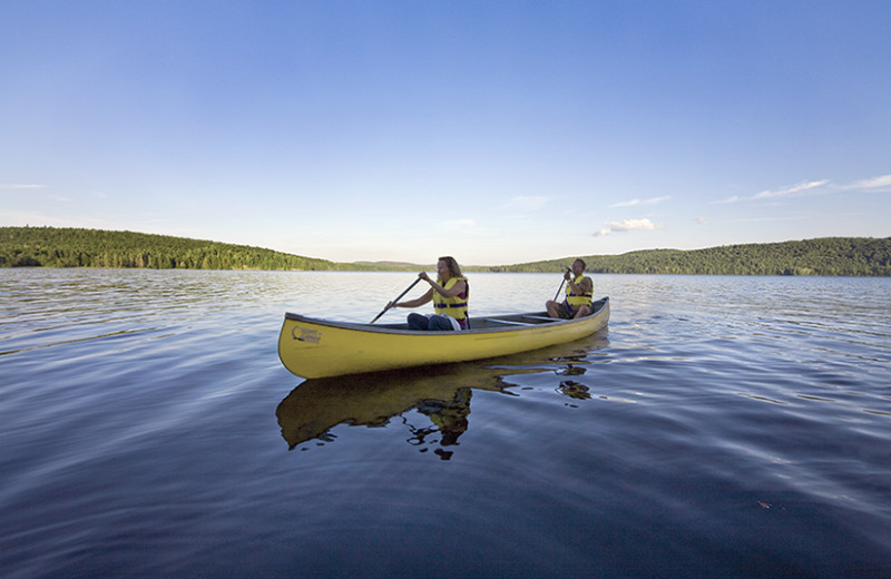 Canoeing on the lake at Killarney Lodge.