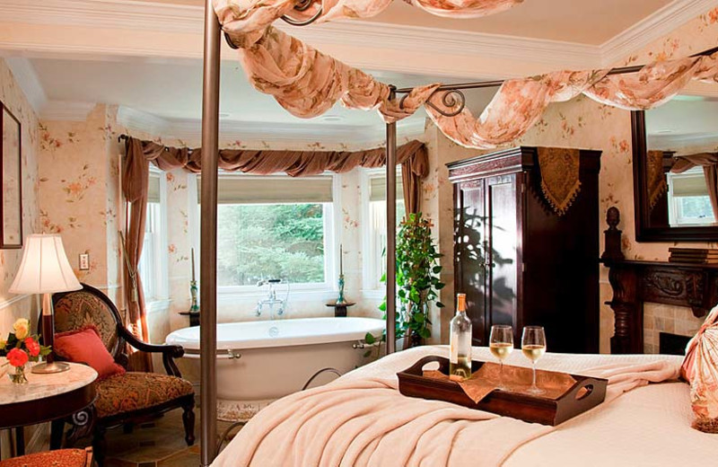 Guest room at Churchill Manor Bed & Breakfast.