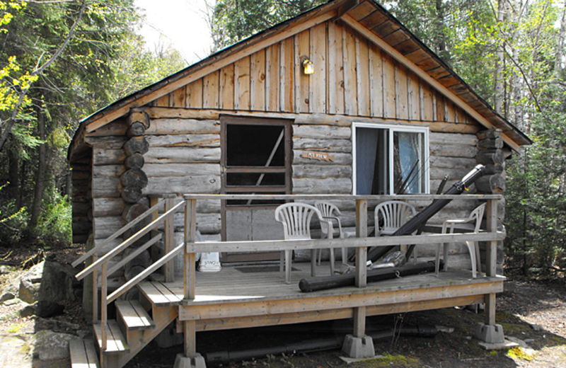 Cabin Exterior Garden Island Lodge