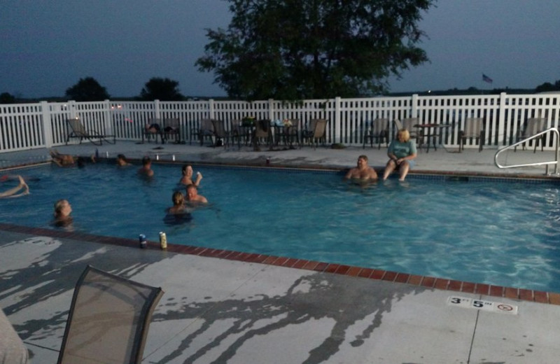 Outdoor pool at The Homestead at Ottertail RV Park and Resort.