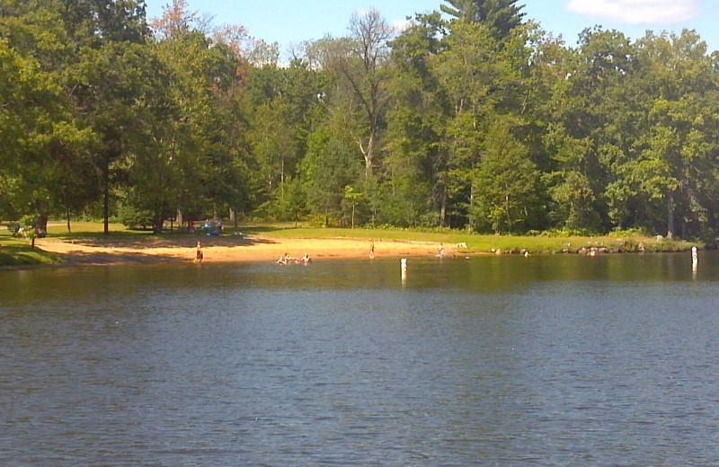The beach at Popp's Resort.