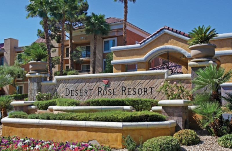 Exterior view of Desert Rose Resort.