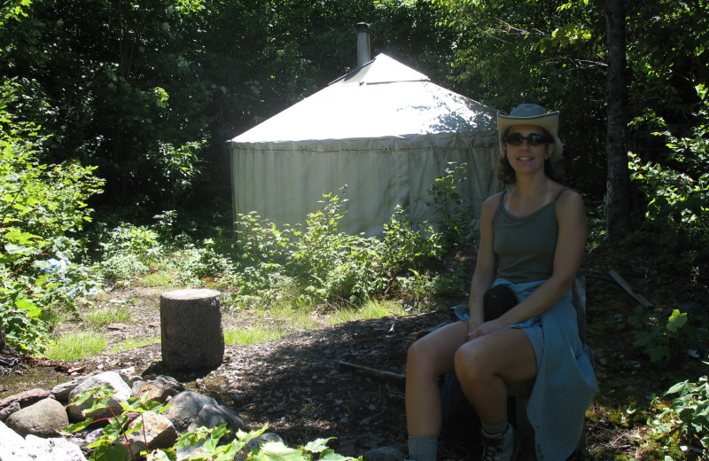 Yurts at The Birches Resort.
