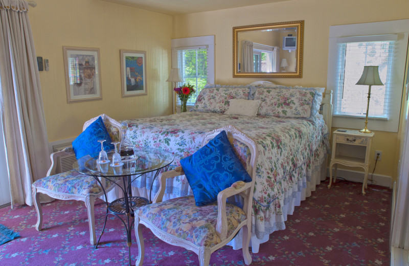 Guest room at The Ambrose Bierce House B&B.
