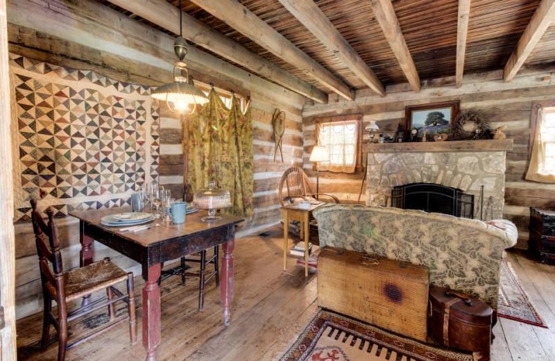 Rental living room at