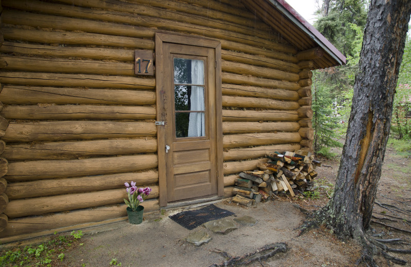 Cabin exterior at Arctic Lodges.