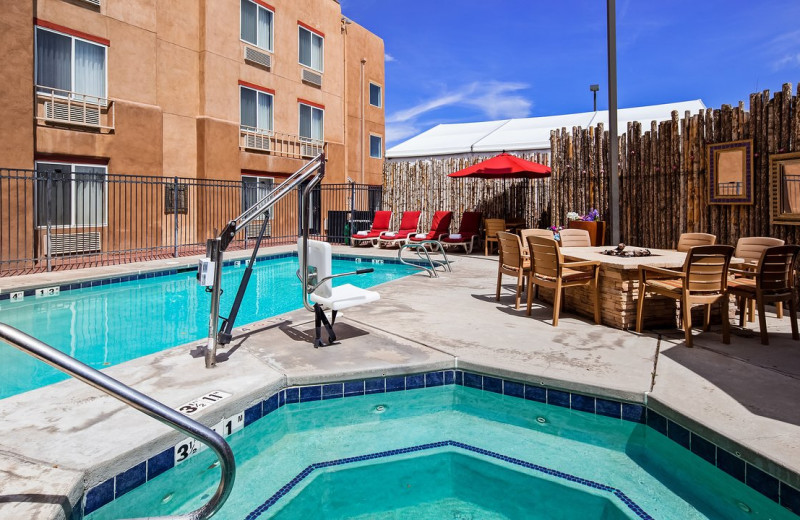 Outdoor pool at Inn At Santa Fe Hotel.