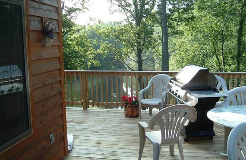 Cottage deck at Riverbend Retreat Resort Lodge & Cottages.