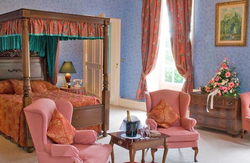 Guest room at Bosworth Hall Hotel.