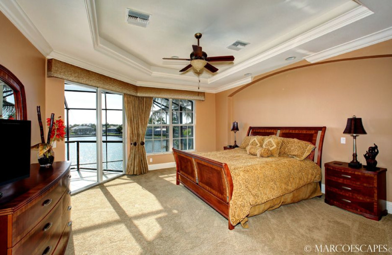 Rental bedroom at Marco Escapes.