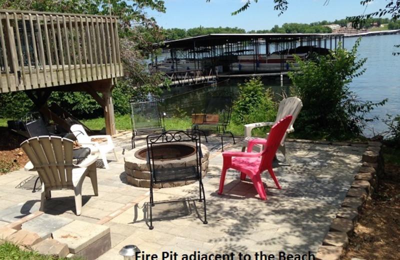 Firepit at Alhonna Resort.