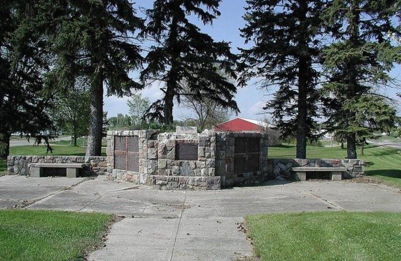 Park near Pelican Motel.