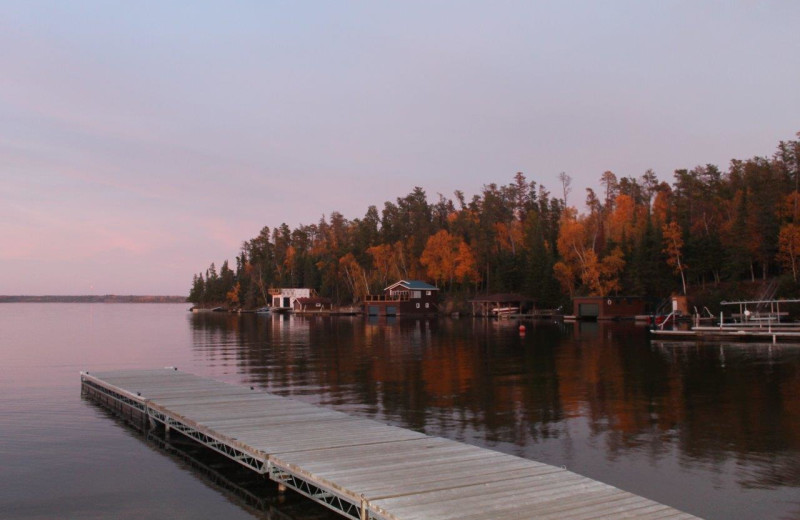 Lake view at Tallpine Lodges.
