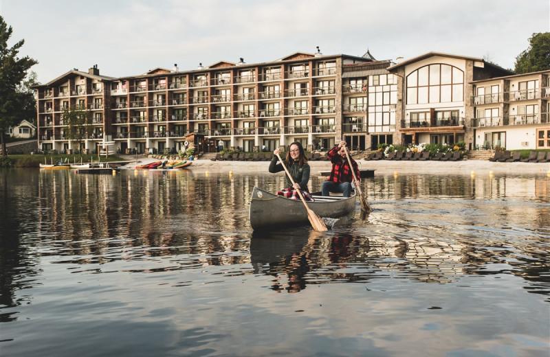 Canoeing at Golden Arrow Lakeside Resort.