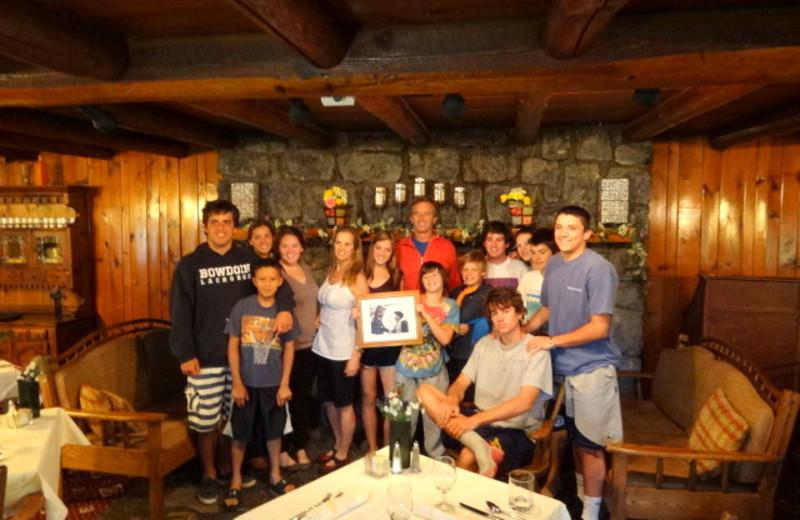 Family reunions at Garnet Hill Lodge.