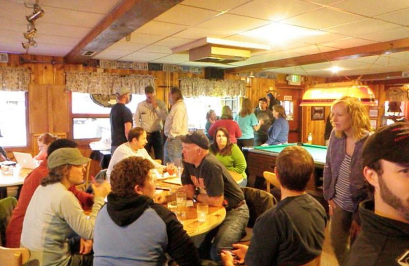 Dining at Trail Lake Lodge.