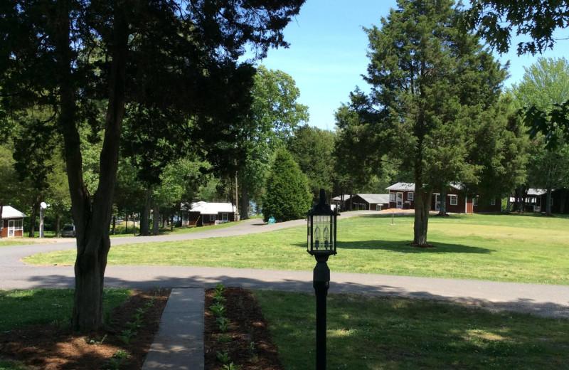 Exterior view of Cedar Knob Resort.