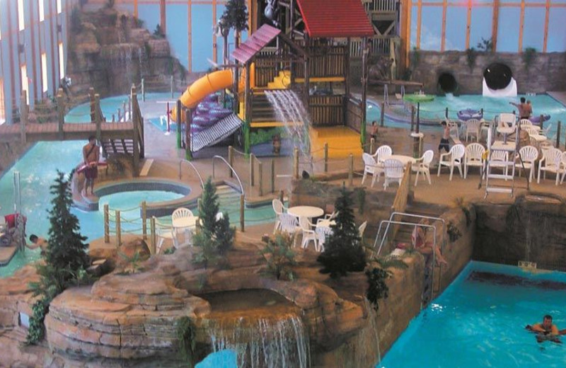 Indoor waterpark at Grizzly Jacks Grand Bear Resort.