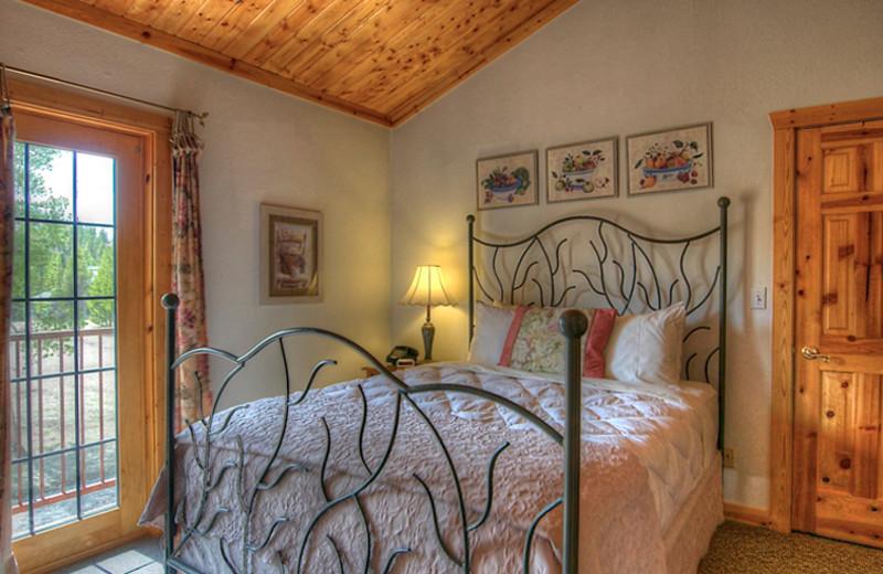 Guest room at Wild Horse Inn.