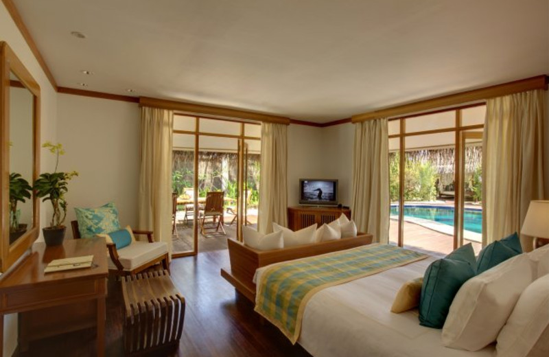 Guest room at Kanuhura Sun Resort & Spa.