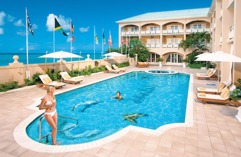 Outdoor pool at Sandals Inn.