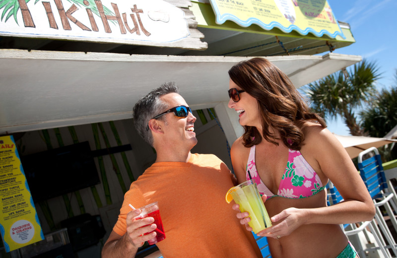 Getting drinks at Paradise Resort.