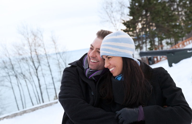 Couple at Fairmont Le Manoir Richelieu.