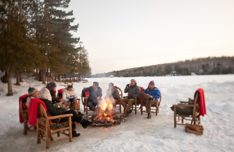 Winter time bonfire at The Point.