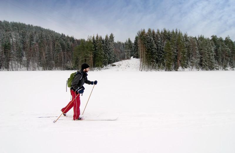 Cross country ski at The Glen Eden Resort.