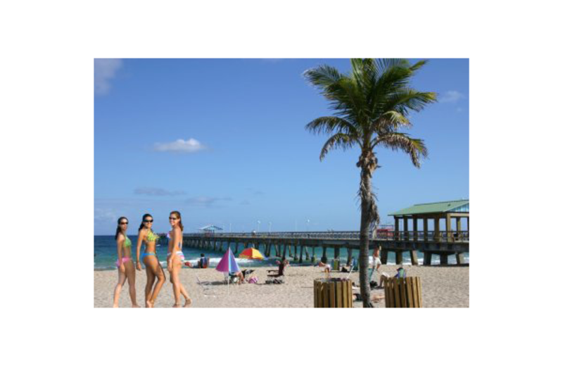 The beach at Villa Caprice Resort Motel.