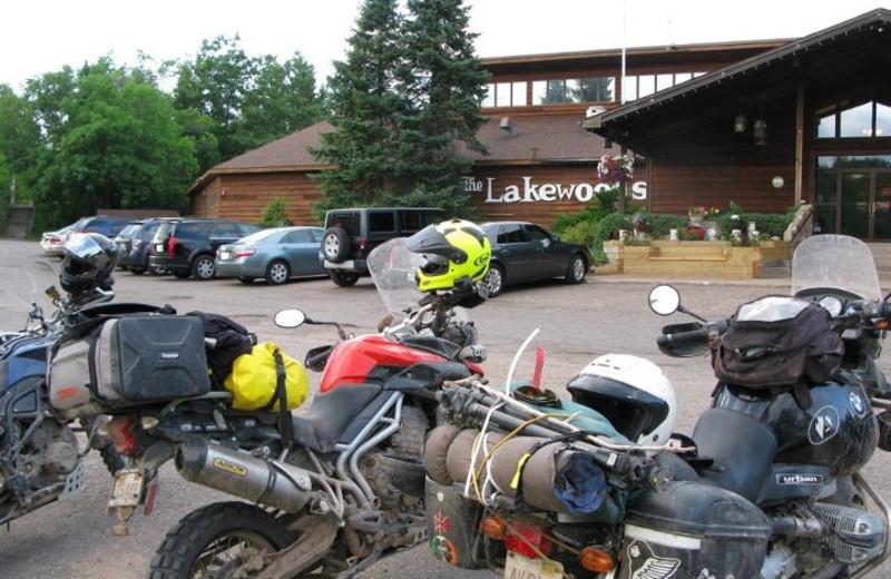 Parking lot at Lakewoods Resort.