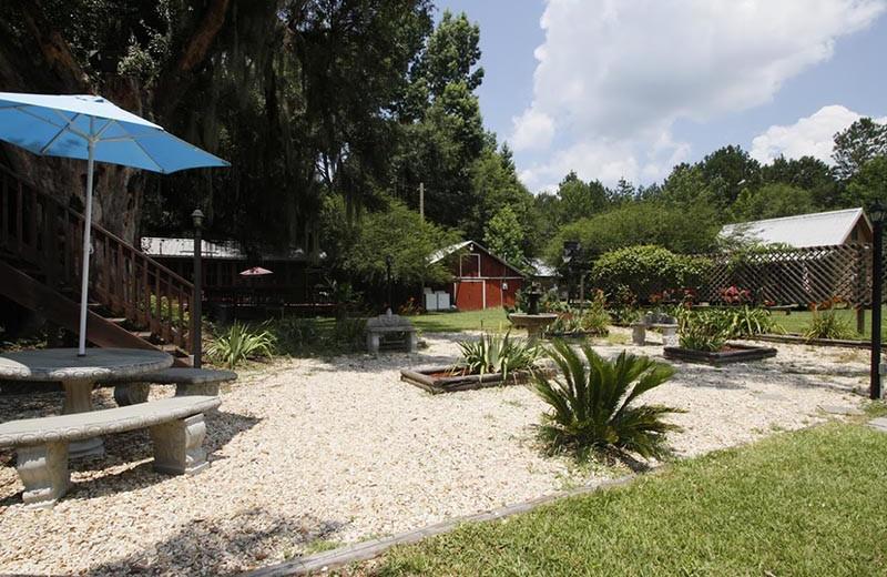 Garden at Berry Creek Cabins.