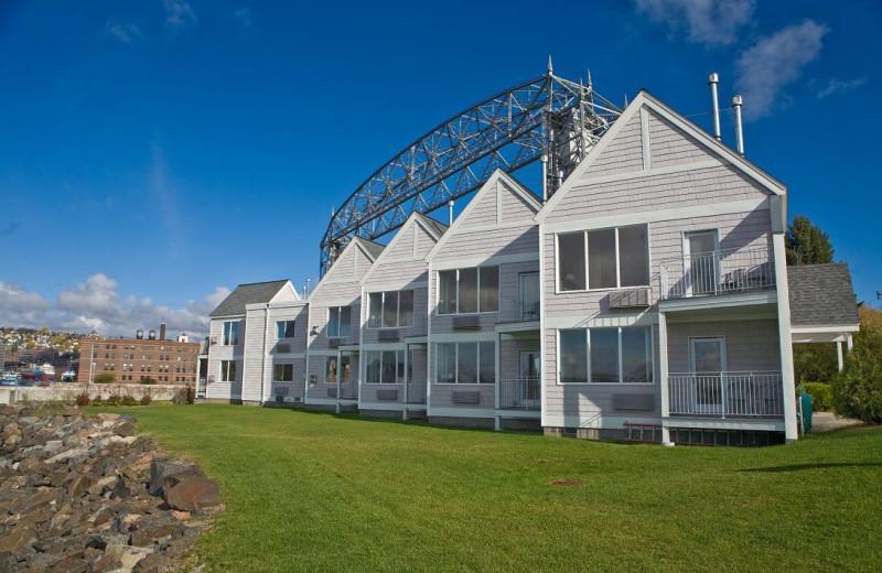 Exterior view of South Pier Inn.